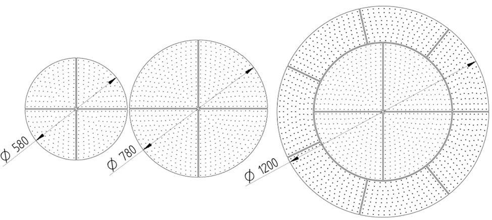 modulos-led-circulares-discus-bjb-3-esquema
