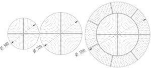 Módulos LED circulares Discus BJB 3 Esquema